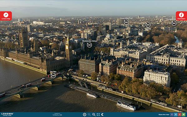 совершить виртуальный тур по Лондону